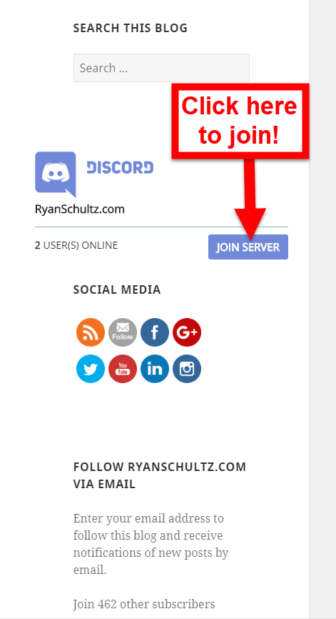 New A Discord Server For Ryanschultzcom Readers Ryan Schultz