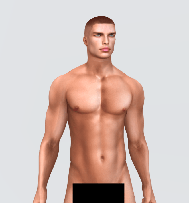 free male mesh body second life