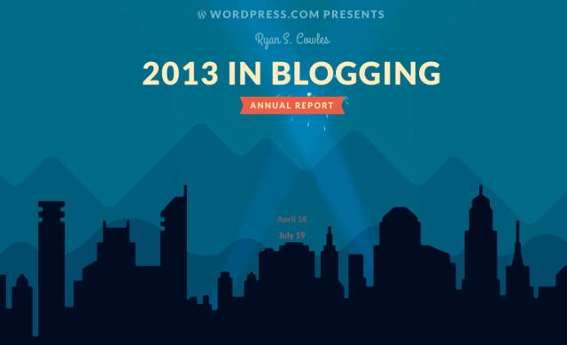 2013 in Blogging by WordPress.com