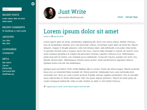 Just Write - Free WordPress Theme