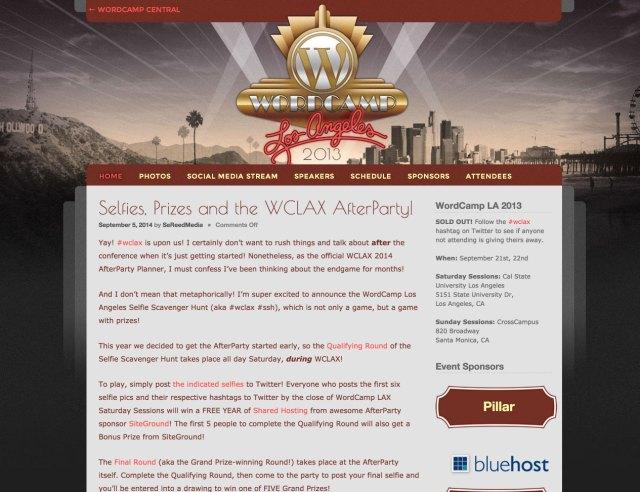 WordCamp Los Angeles 2013 website