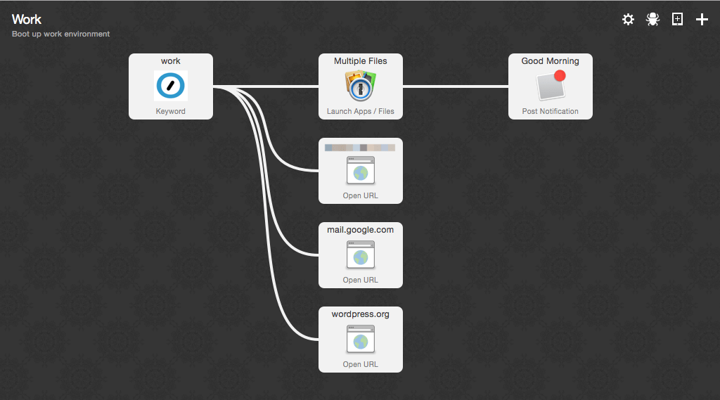Alfred Workflow: Boot up