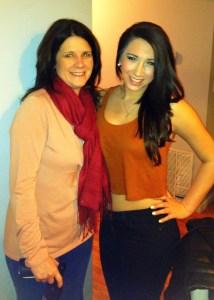 Sue visits with Kari at WVU