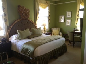 A partial shot of my room. I don't recall every staying at a better place.