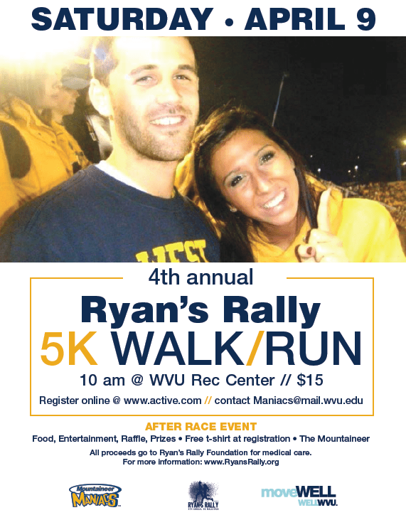 The 4th Annual Ryan's Rally 5K will take place next weekend.