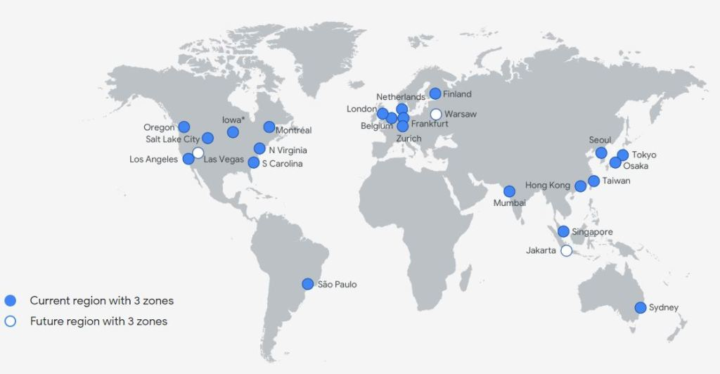 Google Cloud Regions