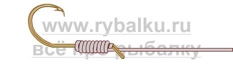 釣りノード - フックバカリーシュ写真4を綴る方法