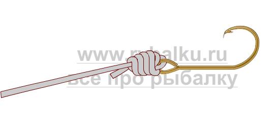 釣りノード - 血まみれのノード画像のクリンチフックをバインドする方法4