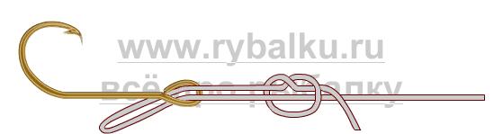 Балық аулау Түйіндер - HOOK қақпағын қалай байланыстыру керек 2-сурет