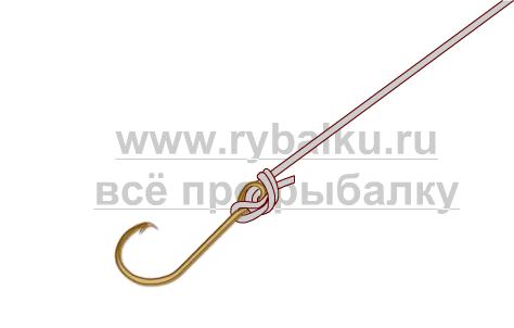 釣りノード - フックパロマール絵を綴じる方法4