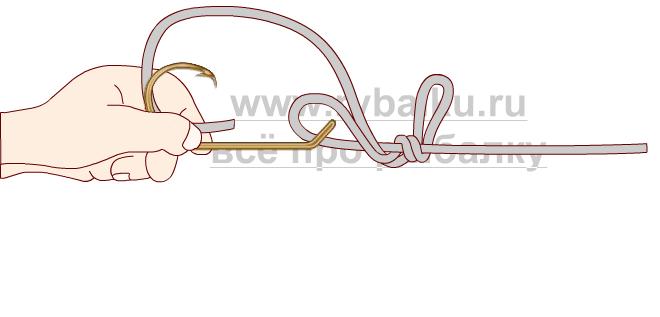 釣りノード - フックペンの写真3を綴じる方法3