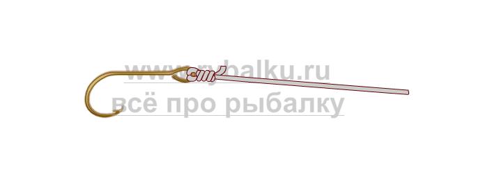 釣りノード - レベッカ映像のフックを綴じる方法4