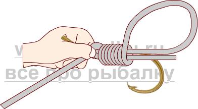 Балық аулау түйіндері - ілгектің жылжымалы сілкінісіне қалай байланыстыру керек 2