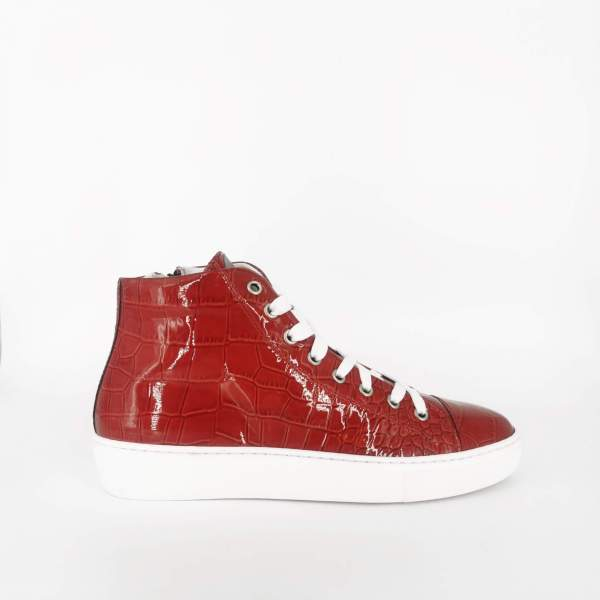 Red shiny coco leather RYC & RICH-YCLED Handmade Shoes From Italy €300