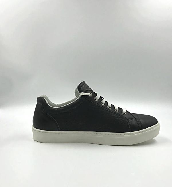 iron black & deep grey leather RYC & RICH-YCLED Handmade Shoes From Italy