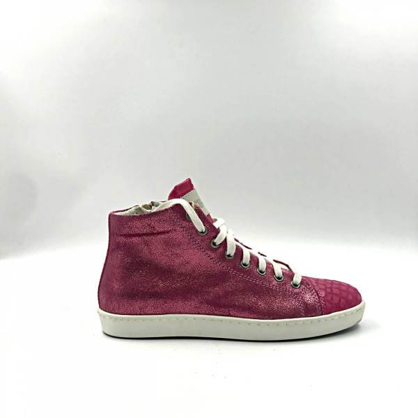 hot pink with glitter pink leather RYC & RICH-YCLED Handmade Shoes From Italy