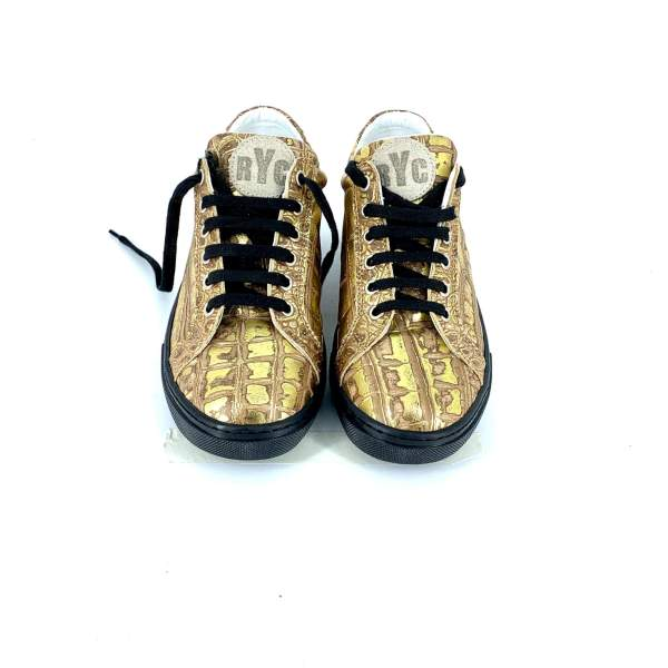 full Gold coco leather RYC & RICH-YCLED Handmade Shoes From Italy €280