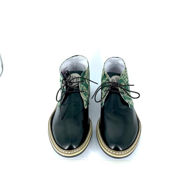 green'n gold damascato with brushed green calfskin RYC & RICH-YCLED Handmade Shoes From Italy €240