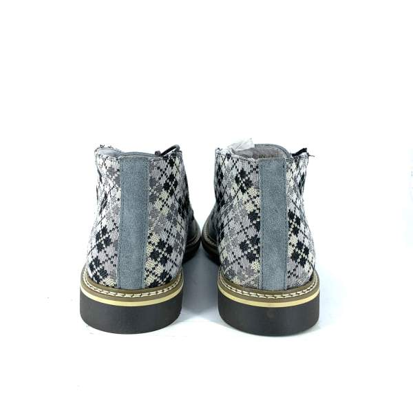 Multi Squared Piedipull with grey suede RYC & RICH-YCLED Handmade Shoes From Italy