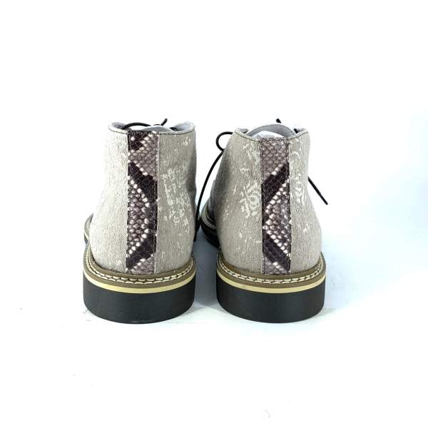 Beige'n white baroccato with multi brown tex leather RYC & RICH-YCLED Handmade Shoes From Italy €250