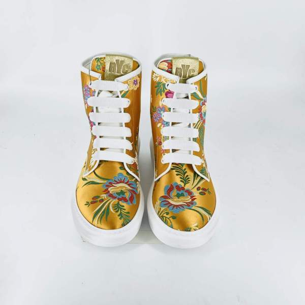 high-top with full Floral damascato RYC & RICH-YCLED Handmade Shoes From Italy €179
