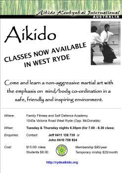 Ryde Aikido Flyer