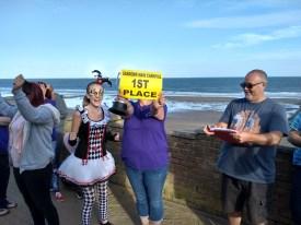 Joy at winning 1st Prize at Sandown Main Carnival