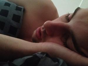 sleeping time, man, bedroom
