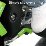 Green rubber shift sock