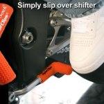 Orange rubber shift sock