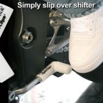 White rubber shift sock