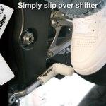 White rubber shift sock