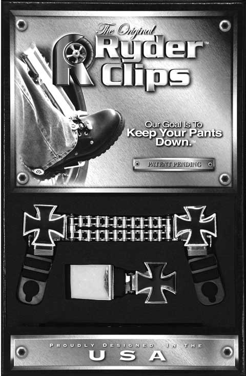Maltese cross stirrup clips