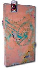 drrichards-1-bubblegum-bomber-60x36x5-acrylic-plaster-wood-bottlecaps-bubblegum-plexi-glassjar