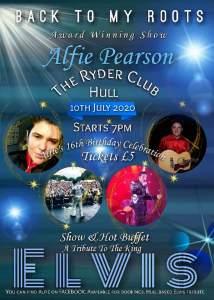 Elvis tribute show starring Alfie Pearson