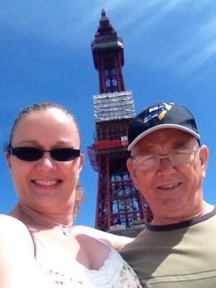 Dad and I at Blackpool