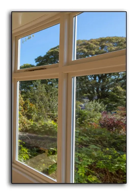 Photo of a double-glazed wooden window, manufactured by Ryedale Joinery Ltd.