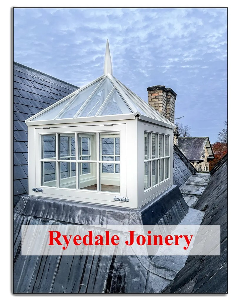 Example of a Cupola or Lantern window, manufactured by Ryedale Joinery in North Yorkshire.
