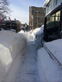 Most of the sidewalks were already cleared