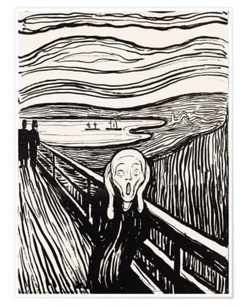 Printmaking: The scream Wood cut by Edvard Munch