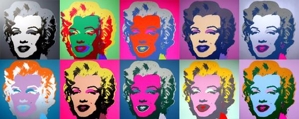 Printmaking: Screenprint of Marilyn Monroe by Andy Warhol.