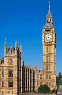 An icon of Britain and probably the most famous timepiece in the world, Big Ben towers over that infinitely less reliable institution and the seat of British Government, the Houses of Parliament. Famously r