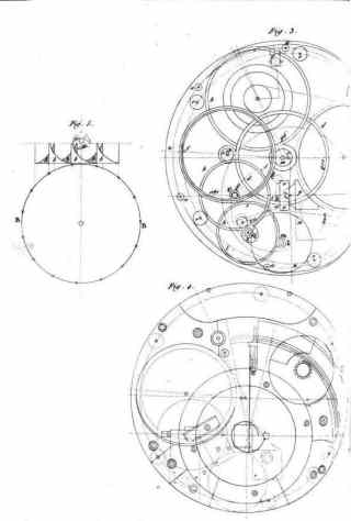 Drawings of Harrison's H4 chronometer of 1761, published inThe principles of Mr Harrison's time-keeper, 1767