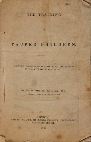 The Training of Pauper Children by James Phillips Kay, M.D., 1839 © University of Manchester Library.