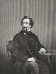 Charles Dickens, engraved by John Forster, 1872 (Ref: JRL Eng. MS 725)
