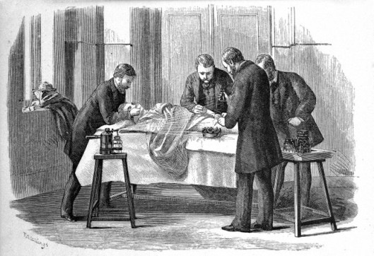 M0003436 Use of the Lister carbolic spray, Antiseptic surgery, 1882. Credit: Wellcome Library, London. Wellcome Images images@wellcome.ac.uk http://wellcomeimages.org Use of the Lister carbolic spray. Antiseptic surgery William Watson Cheyne Published: 1882 Copyrighted work available under Creative Commons Attribution only licence CC BY 4.0 http://creativecommons.org/licenses/by/4.0/