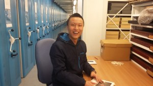 Sheng Yan working on the LYC Collection