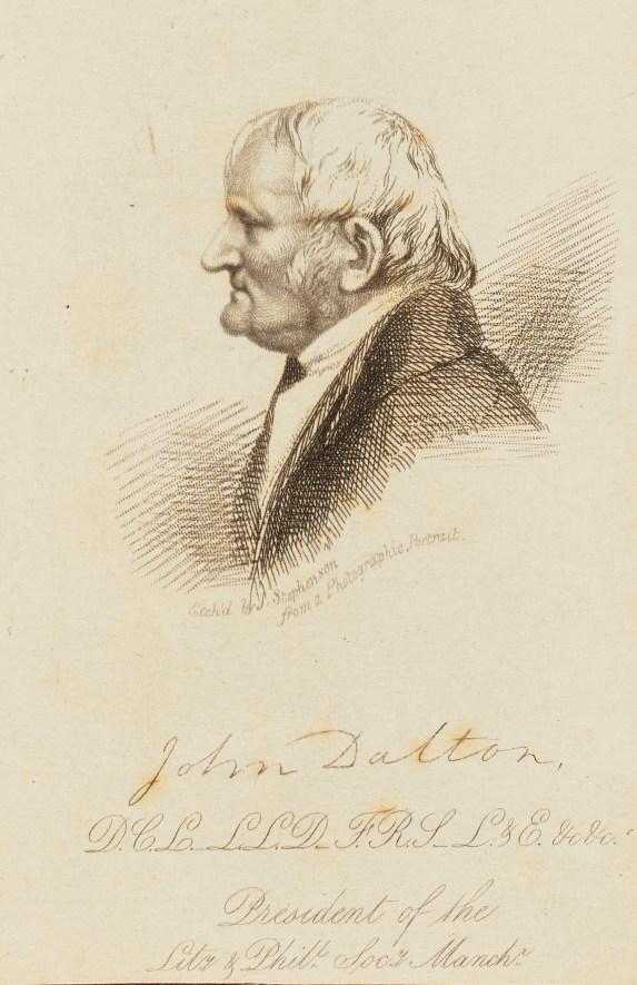 etching of John Dalton