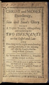 Titlepage of 'Christ Moses Excellency', 1650.