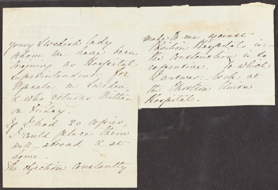 English MS 1154/3. Florence Nightingale Letters to Thomas Worthington.